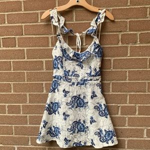 Forever 21 Ruffle Lace Floral Dress